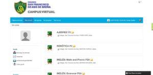 Cursos del Aula Virtual