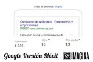 Google Versión Móvil
